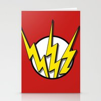 the flash Stationery Cards featuring Flash by Msimioni