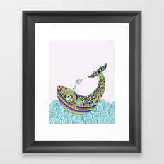 Whale Tune Framed Art Print