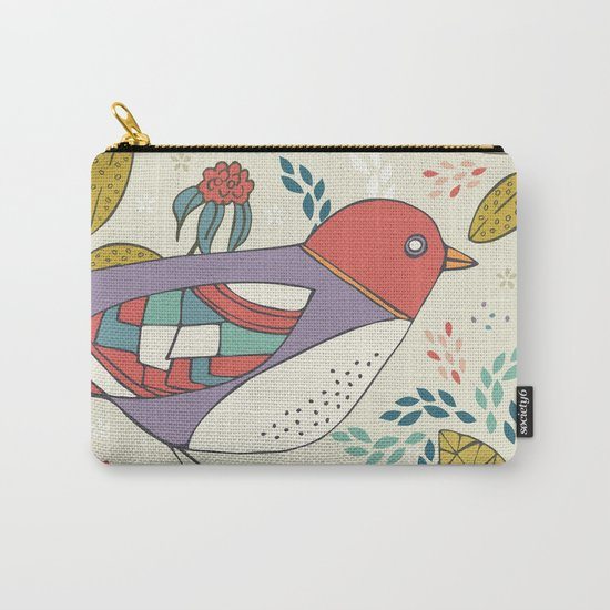 Bird and Butterfly  Carry-All Pouch