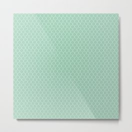 Chicken Wire Mint Metal Print