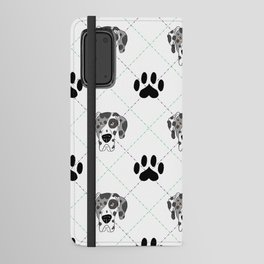Merle Great Dane Paw Print Pattern Android Wallet Case