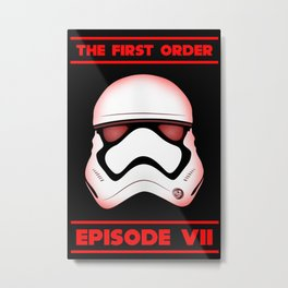The First Order - Stormtrooper - Episode VII Metal Print