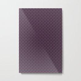 Purple and Black Zebra Metal Print