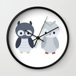 Cute Little Owls Wall Clock