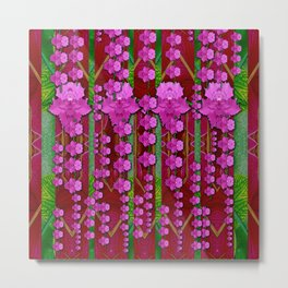 jungle flowers in the orchid jungle ornate Metal Print