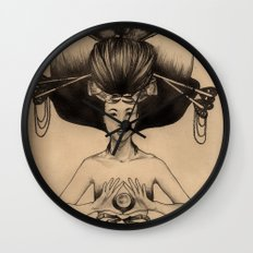 CANCER - Black and White Version Wall Clock