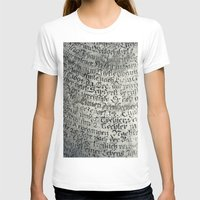 writing T-shirts featuring ancient writing by Falko Follert Art-FF77