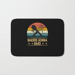 I Cant I Have Cookies To Bake Baker Baking Bakery Bath Mat