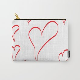 Several red hearts, love, sentimentality, romanticism Carry-All Pouch