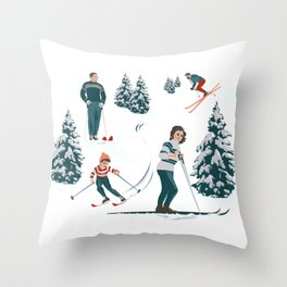 Sports d'hiver Throw Pillow