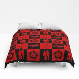 SPN Hunter Checkers Comforters