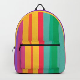 Happy color stripes Backpack