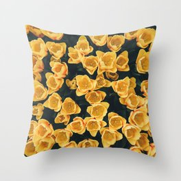 Yellow Tulips From Above Throw Pillow