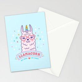 llama unicorn llamacorn pink alpaca gift Stationery Cards
