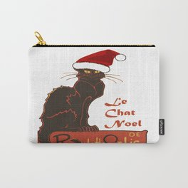 Le Chat Noel Christmas Vector Carry-All Pouch