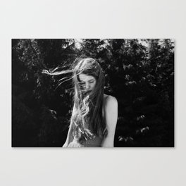 Girl with flaxen hair Canvas Print