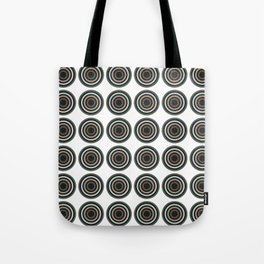 Abstract Modern Concentric Circles Texture Tote Bag