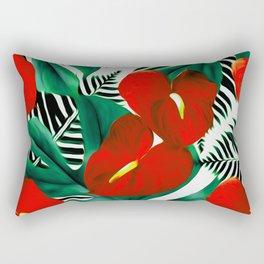 Anthurium red Rectangular Pillow
