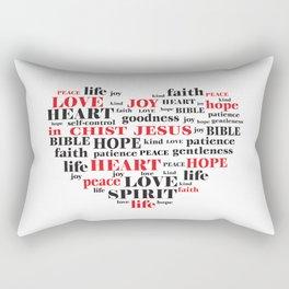fruit of the spirit,Galatians 5:22-23,Christian Bible Verse Quote Rectangular Pillow