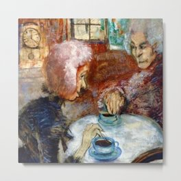 Gossipy, Humpback Old Lady's telling old stories to Herbert by Lajos Gulácsy Metal Print