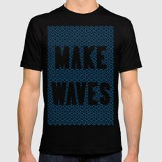 Make Waves Mens Fitted Tee LARGE Black