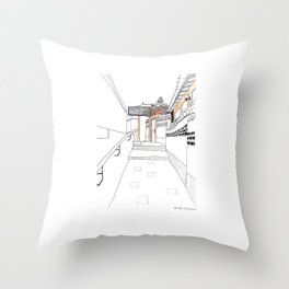 Bukchon in Seoul Throw Pillow