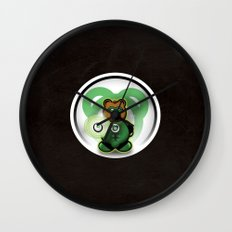 Super Bears - the Green One Wall Clock