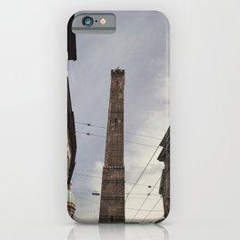 Two Towers, Bologna, Emilia Romagna, Italy, street photography, Torre degli Asinelli, italian city iPhone Case