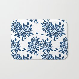 Blue abstract flowers . 2 Bath Mat