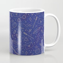 Yer a Wizard - Blue + Bronze Coffee Mug