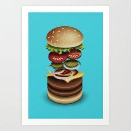 The Perfect Burger Art Print