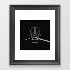 darth vader Framed Art Print