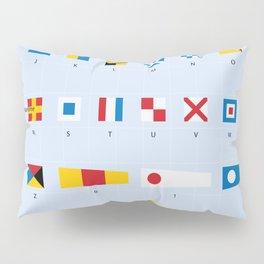 Maritime Signal Flags Poster Pillow Sham