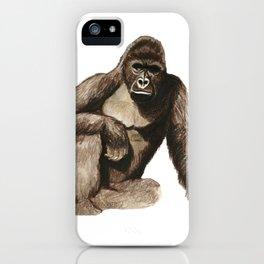 Harambe Gorilla Meme Illustration Zoo iPhone Case