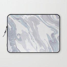 Navy Marble Waves Laptop Sleeve