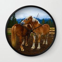 Horses in Jasper National Park, Canada Wall Clock