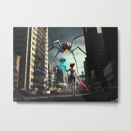 VR World Metal Print
