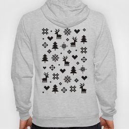 PIXEL PATTERN - WINTER FOREST Hoody