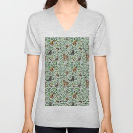 Woodland Animal Friends Unisex V-Neck