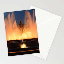 Magic Fountain of Montjuic 1 Stationery Cards