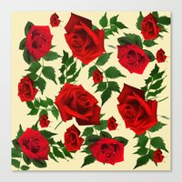 roses Canvas Prints featuring roses  by mark ashkenazi