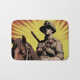 Australian Light Horse soldier Bath Mat