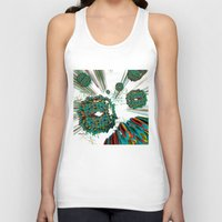 cyberpunk Tank Tops featuring Coral Reef by Obvious Warrior