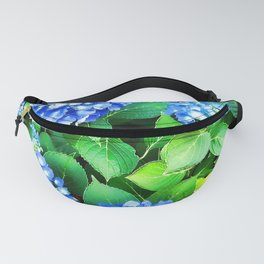Spring In The Air - Blue Hydrangea Fanny Pack