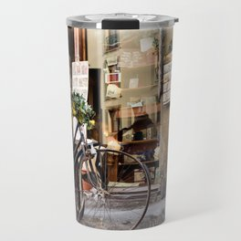 Old Bike in front of romantic shop. Florence Travel Mug