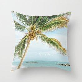 Tropical Palm Tree Throw Pillow