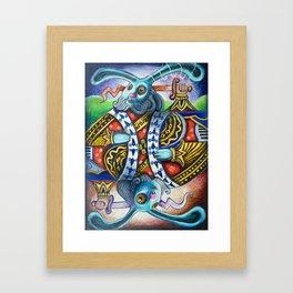 Rabbit: A Full House Divided Framed Art Print