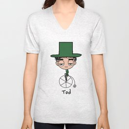 Tod on Bike Unisex V-Neck