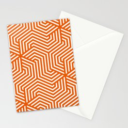 Persimmon - orange - Minimal Vector Seamless Pattern Stationery Cards