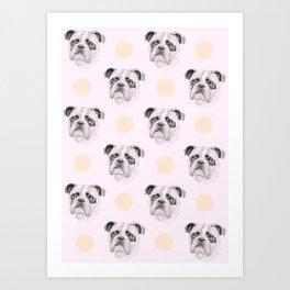 Polka Dot Bulldogs Art Print